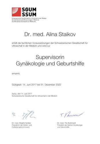 SGUM Attest, Dr.med.(BG) Alina Staikov